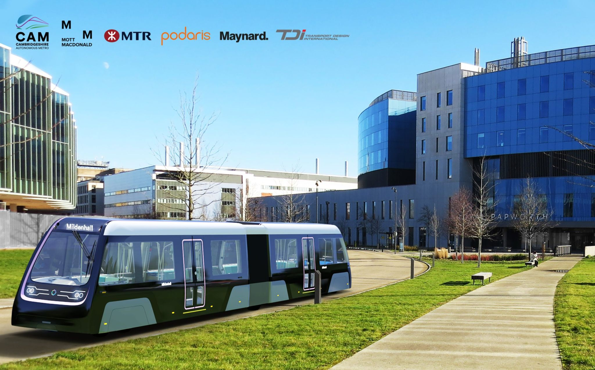 Cambridge Autonmous Metro (CAM) Concept. Produced by Transport Design International Ltd)